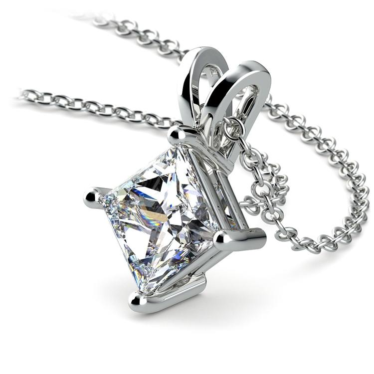 Princess Diamond Solitaire Pendant in Platinum (2 ctw)  | 03