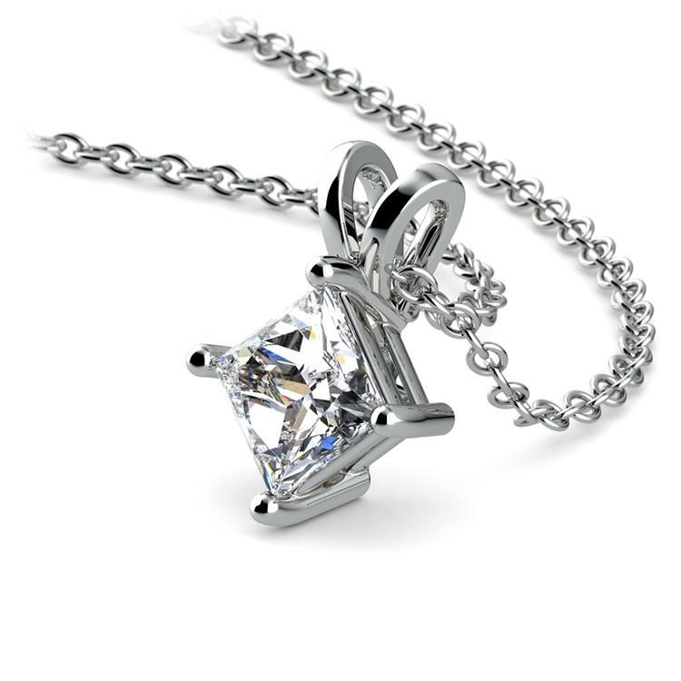 Princess Diamond Solitaire Pendant in Platinum (3/4 ctw)  | 03