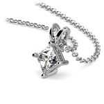 Princess Diamond Solitaire Pendant in White Gold (1/2 ctw)  | Thumbnail 03