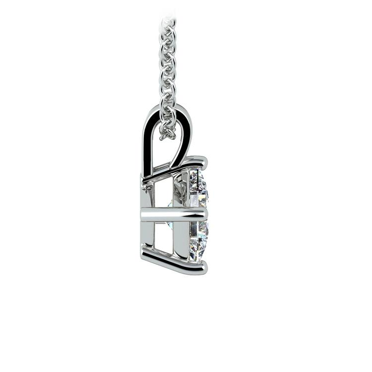 Princess Diamond Solitaire Pendant in White Gold (1/2 ctw)  | 02