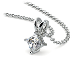 Princess Diamond Solitaire Pendant in White Gold (1/5 ctw)  | Thumbnail 03