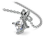 Princess Diamond Solitaire Pendant in White Gold (3/4 ctw)  | Thumbnail 03