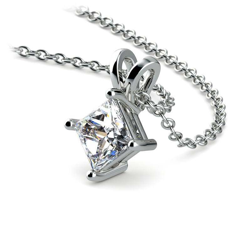 Princess Diamond Solitaire Pendant in White Gold (3/4 ctw)  | 03