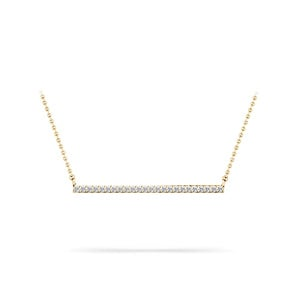 Single Row Bar Diamond Necklace In Gold