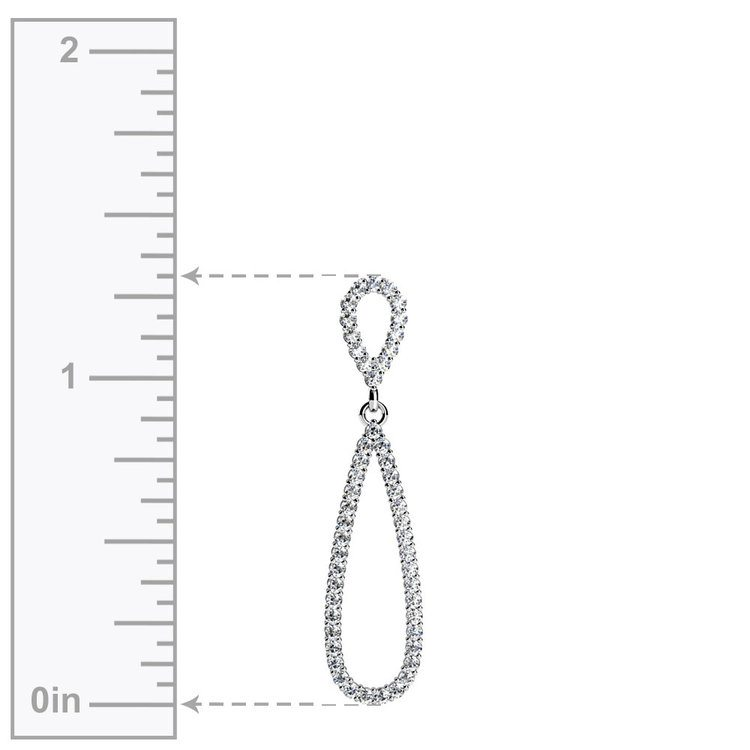Teardrop Diamond Pendant in White Gold | 02