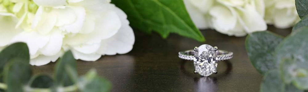 a oval diamond engagement ring