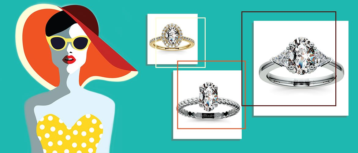 Picking the Best Style for Oval Engagement Rings