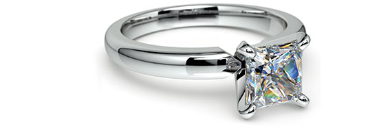 Princess White Gold Preset Engagement Rings