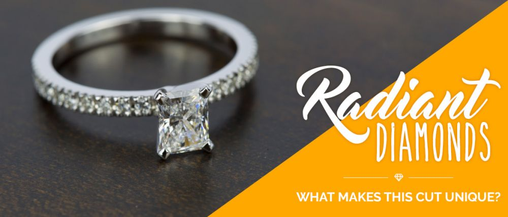 a stunning radiant cut diamond ring