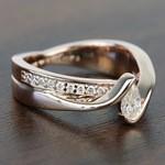 0.30 Carat Pear Custom Bezel Diamond Bridge Engagement Ring - small angle 3