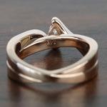0.30 Carat Pear Custom Bezel Diamond Bridge Engagement Ring - small angle 4