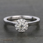 0.40 Carat Pave Round Halo Diamond Engagement Ring - small