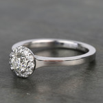 0.40 Carat Pave Round Halo Diamond Engagement Ring - small angle 2