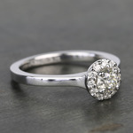 0.40 Carat Pave Round Halo Diamond Engagement Ring - small angle 3