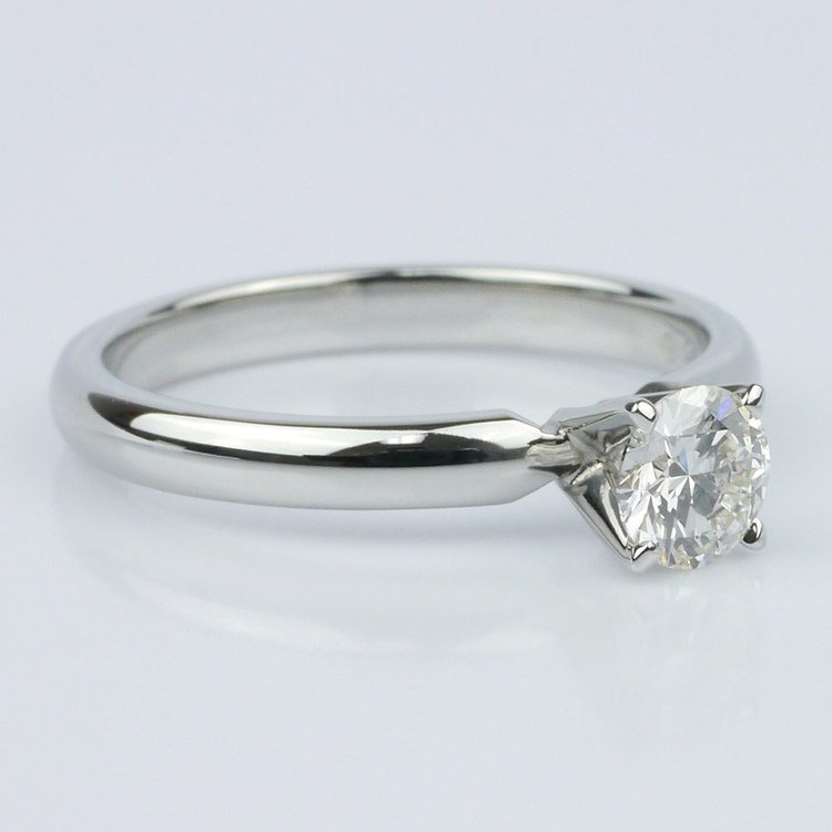0.40 Carat Round Comfort-Fit Solitaire Engagement Ring angle 3