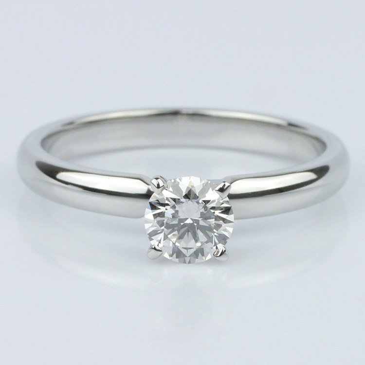 0.40 Carat Round Comfort-Fit Solitaire Engagement Ring