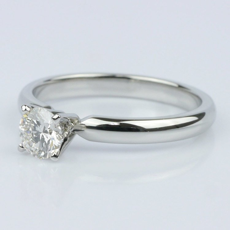 0.40 Carat Round Comfort-Fit Solitaire Engagement Ring angle 2