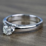 0.41 Carat Round Diamond Cathedral Solitaire Engagement Ring - small angle 2