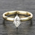 Marquise Classic Solitaire Diamond Engagement Ring (0.50 Carat) - small