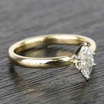 Marquise Classic Solitaire Diamond Engagement Ring (0.50 Carat) - small angle 3