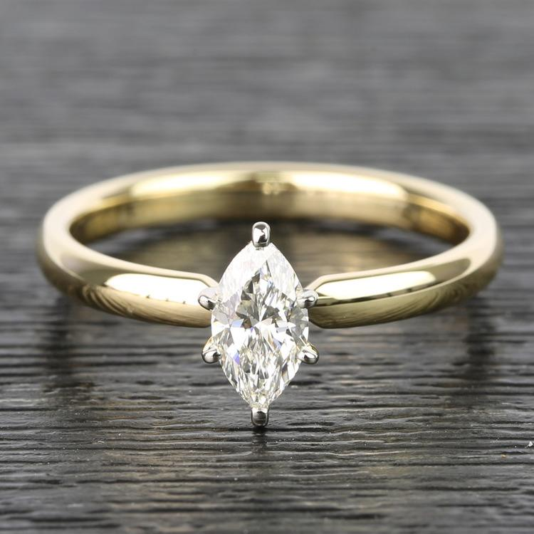 Marquise Classic Solitaire Diamond Engagement Ring (0.50 Carat)