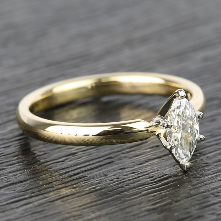 Marquise Classic Solitaire Diamond Engagement Ring (0.50 Carat) angle 3