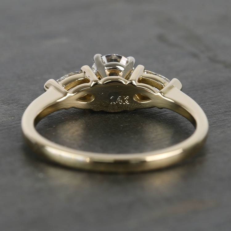 0.60 Carat Round & Pear Diamond Engagement Ring angle 4