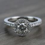 0.60 Carat Round Petite Halo Diamond Engagement Ring - small