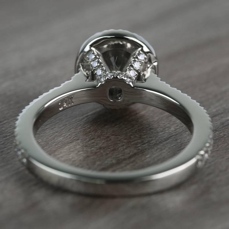 0.60 Carat Round Petite Halo Diamond Engagement Ring angle 4