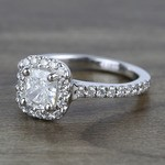 0.73 Carat Cushion Halo Diamond Engagement Ring - small angle 2