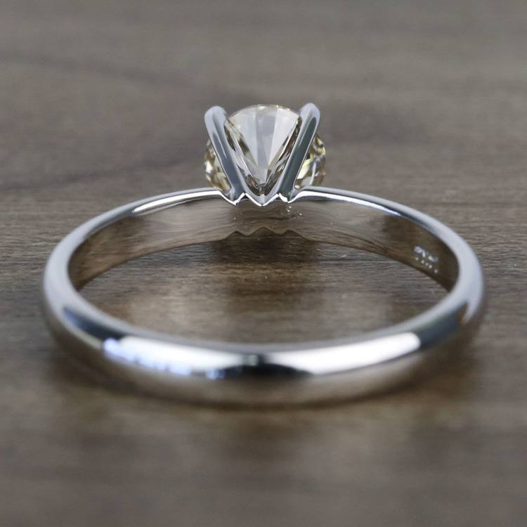 0.74 Carat Round Classic Solitaire Diamond Engagement Ring angle 4