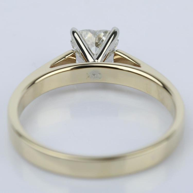0.75 Carat Heart Diamond with Cathedral Engagement Ring angle 4