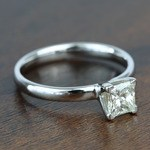 0.77 Carat Classic Princess Solitaire Diamond Engagement Ring - small angle 3
