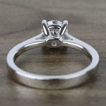 0.80 Carat Round Petite Cathedral Diamond Engagement Ring - small angle 4
