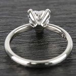 0.90 Carat Heart Comfort-Fit Solitaire Diamond Engagement Ring - small angle 4