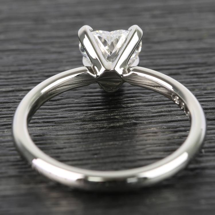 0.90 Carat Heart Comfort-Fit Solitaire Diamond Engagement Ring angle 4