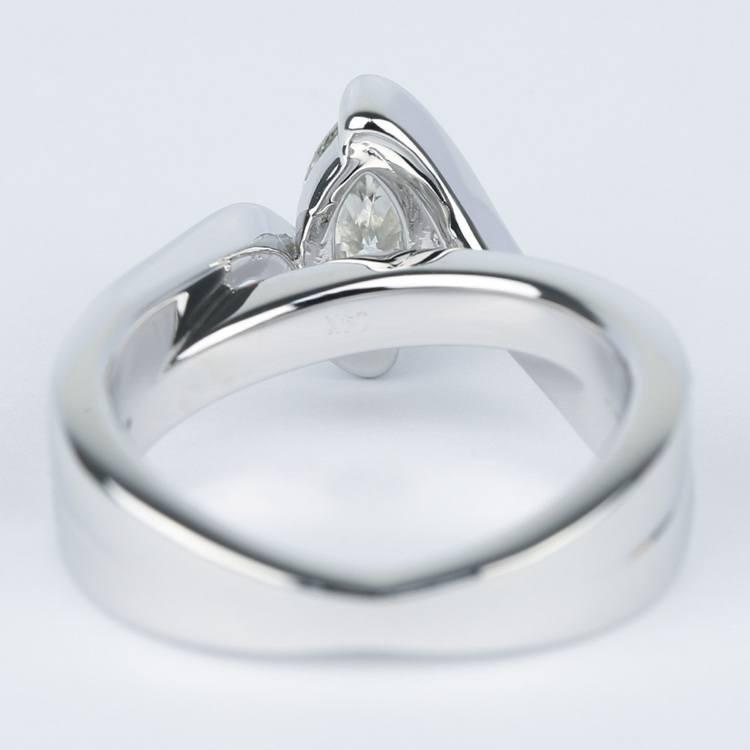 Marquise Bezel Diamond Bridge Engagement Ring (.90 Carat) angle 4
