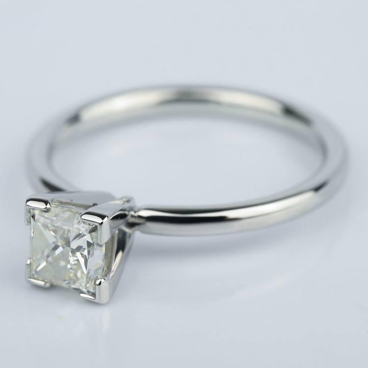 0.90 Carat Princess Diamond Engagement Ring in Platinum angle 2