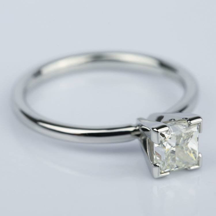0.90 Carat Princess Diamond Engagement Ring in Platinum angle 3