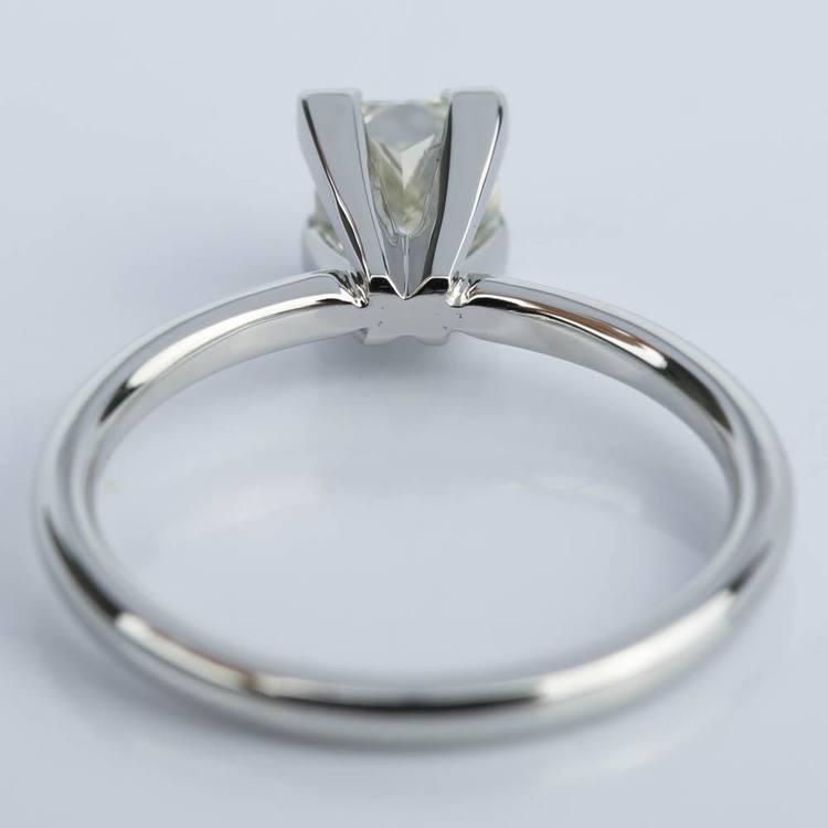0.90 Carat Princess Diamond Engagement Ring in Platinum angle 4