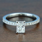 0.90 Carat Radiant Petite Pave Diamond Engagement Ring - small