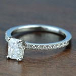 0.90 Carat Radiant Petite Pave Diamond Engagement Ring - small angle 2
