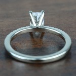 0.90 Carat Radiant Petite Pave Diamond Engagement Ring - small angle 4