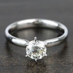 0.90 Carat Six-Prong Round Solitaire Diamond Engagement Ring - small