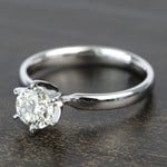 0.90 Carat Six-Prong Round Solitaire Diamond Engagement Ring - small angle 2