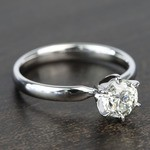 0.90 Carat Six-Prong Round Solitaire Diamond Engagement Ring - small angle 3