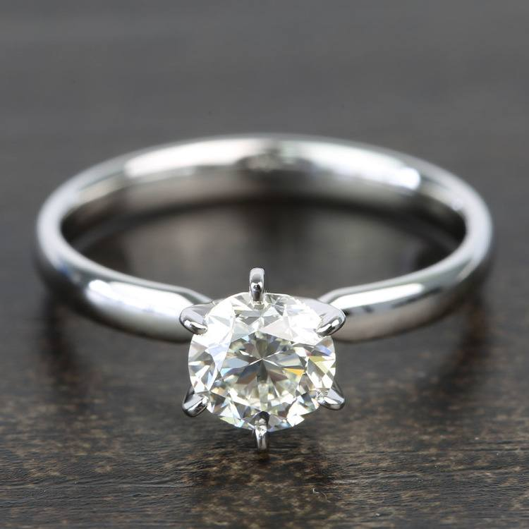 0.90 Carat Six-Prong Round Solitaire Diamond Engagement Ring