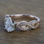 0.91 Carat Infinity Twist Cathedral Pear Diamond Engagement Ring - small angle 2