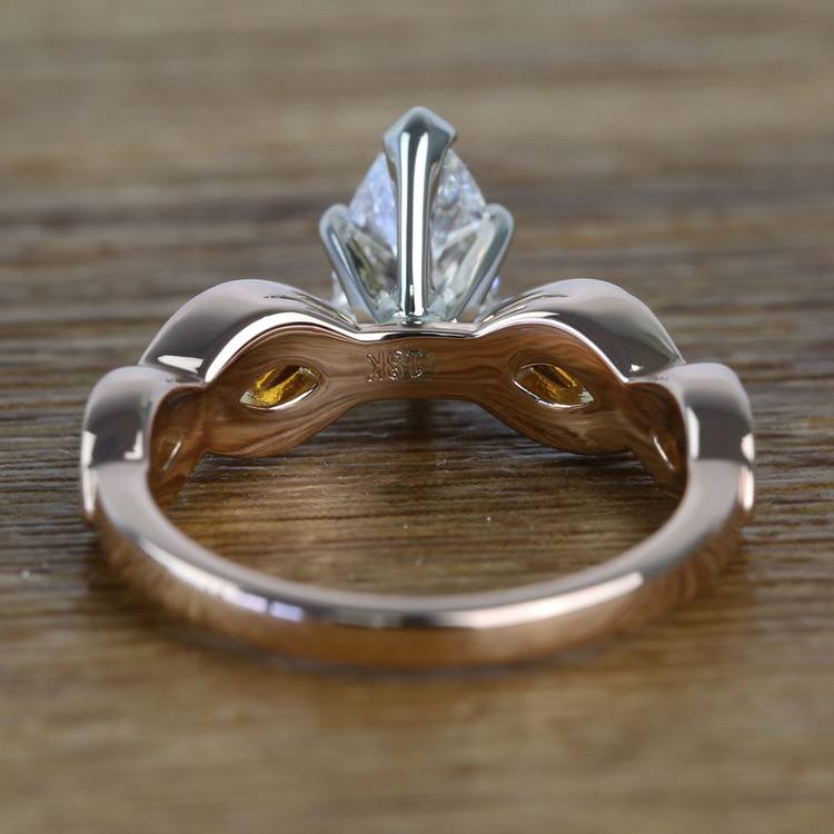 0.91 Carat Infinity Twist Cathedral Pear Diamond Engagement Ring angle 4