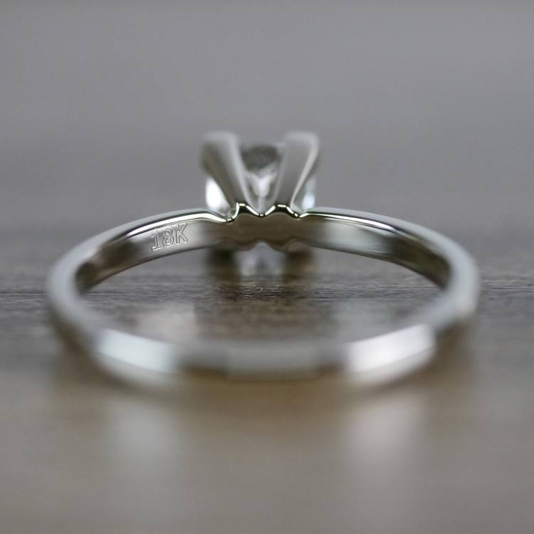 0.93 Carat Princess Cut Diamond Solitaire Engagement Ring angle 4